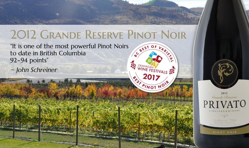 2012 Grand Reserve Pinot Noir John Schreiner